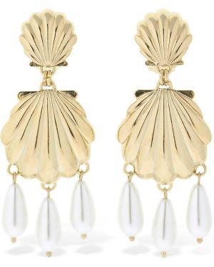 Złote kolczyki sztyfty perły Rowen Rose