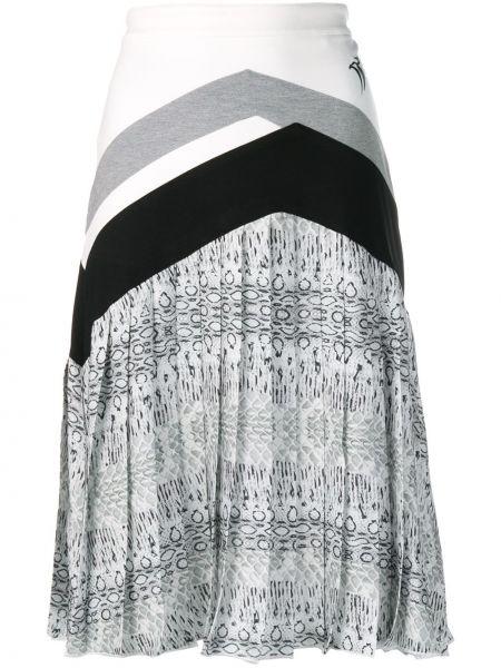 Плиссированная юбка миди с завышенной талией Roberto Cavalli
