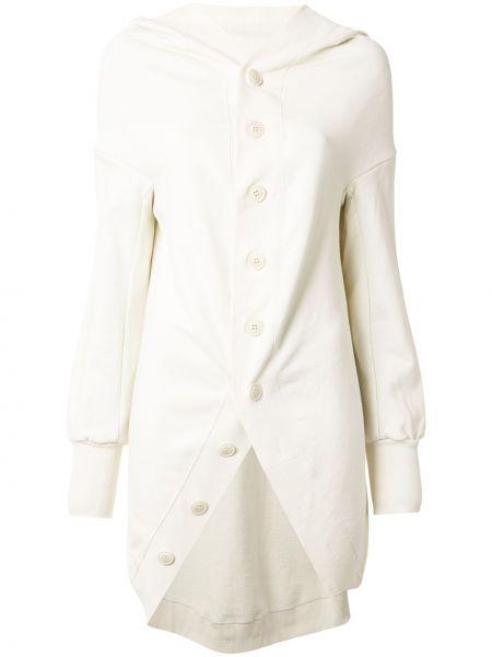 Длинная куртка в рубчик на пуговицах с капюшоном Yohji Yamamoto