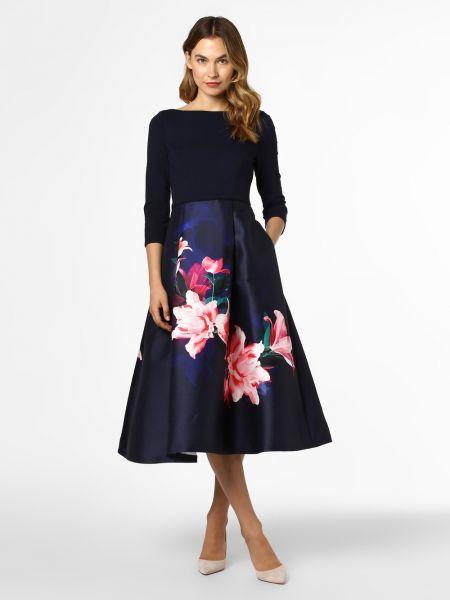 Sukienka wieczorowa w kwiaty niebieskie Coast