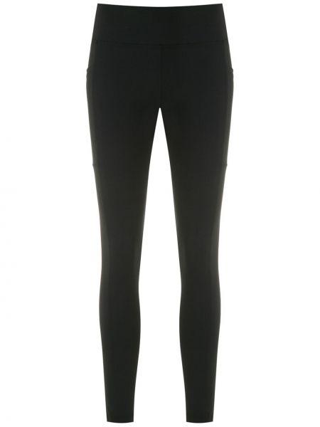 Черные спортивные брюки узкого кроя со вставками Track & Field