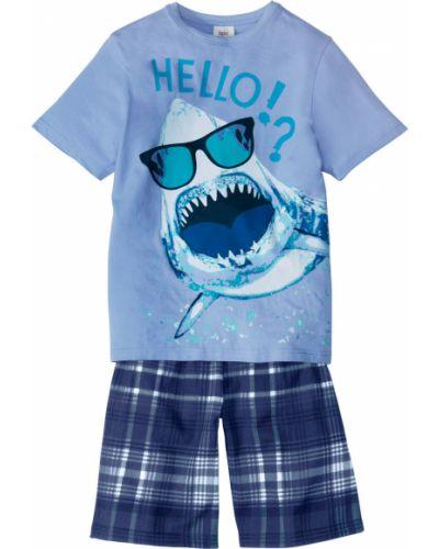 Пижама трикотажная синяя Bonprix