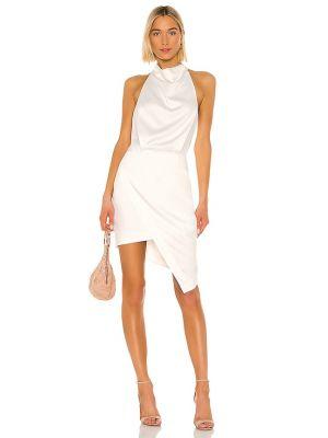 Biała sukienka rozkloszowana na co dzień Elliatt