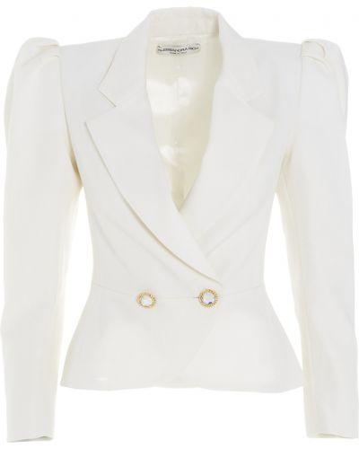 Biały płaszcz Alessandra Rich