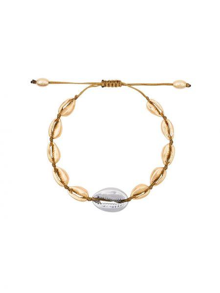 Złota bransoletka ze złota pozłacana Tohum
