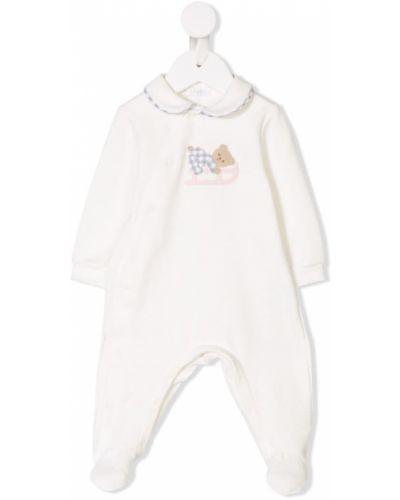 Пижама белая с вышивкой Il Gufo