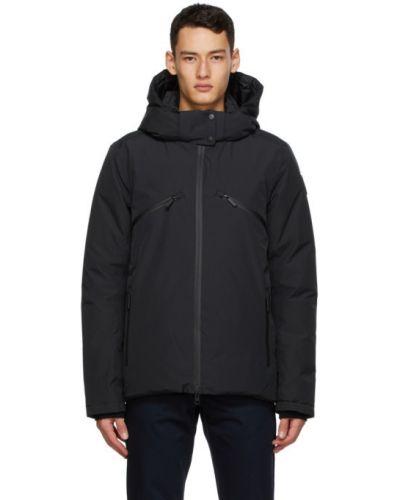 Czarna kurtka pikowana z nylonu Nobis