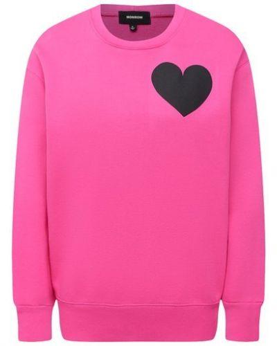 Розовый хлопковый свитшот Monrow