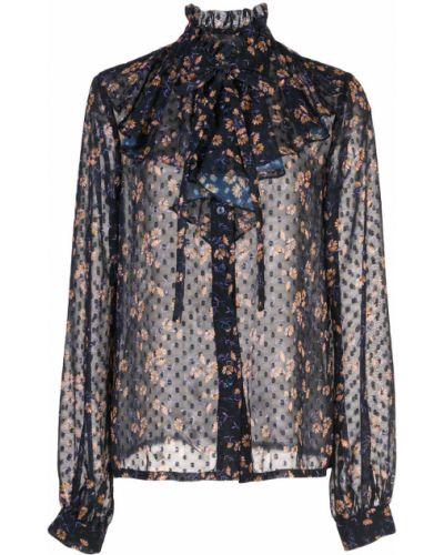 Рубашка с длинным рукавом с принтом с оборками Jill Jill Stuart