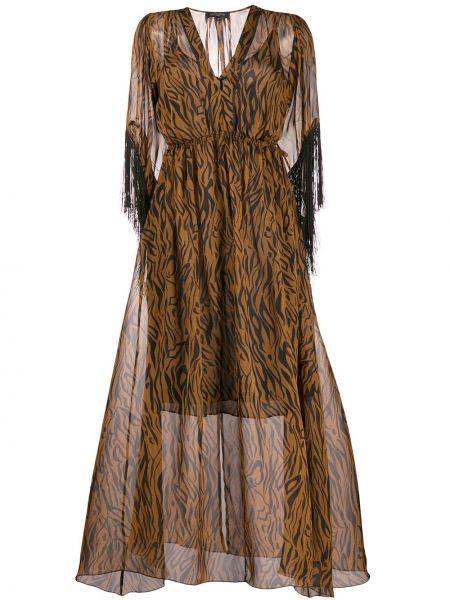 Платье миди с V-образным вырезом длинное Antonelli