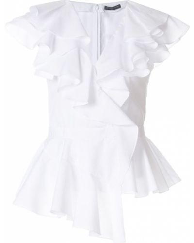 Блузка с коротким рукавом короткая хлопковая Alexander Mcqueen