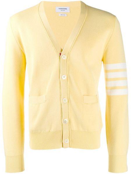 Желтый с рукавами кардиган на пуговицах Thom Browne