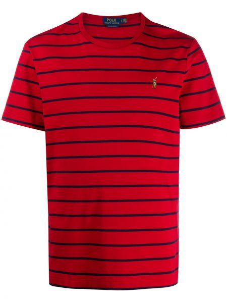 Koszula krótkie z krótkim rękawem prosto w paski Ralph Lauren