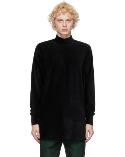 Czarny sweter bawełniany z długimi rękawami Landlord