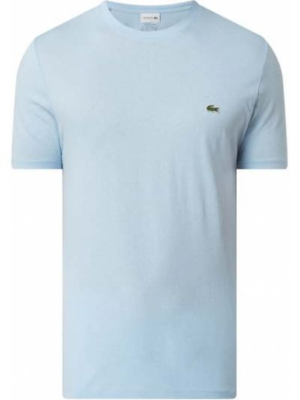 T-shirt bawełniana - niebieska Lacoste