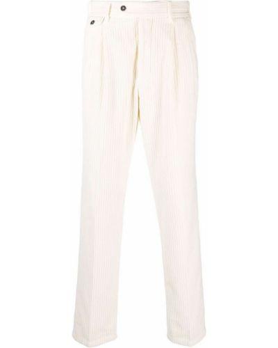 Białe spodnie z paskiem Lardini