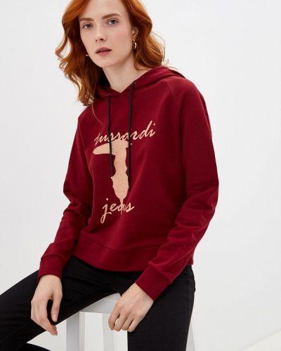 Джинсы бордовый mom Trussardi Jeans