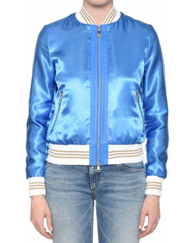 Кожаная куртка из полиэстера - голубая Albano