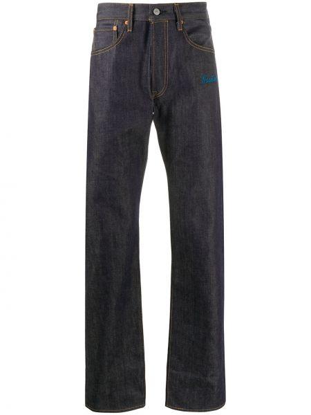 Klasyczne niebieskie jeansy z haftem Facetasm