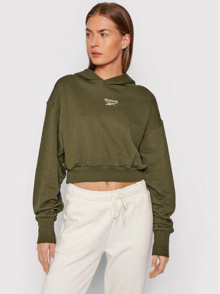 Bluza oversize - zielona Reebok Classic