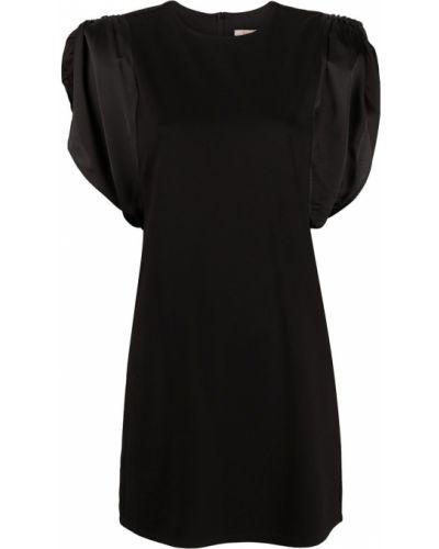 С рукавами черное платье мини с поясом Twin-set