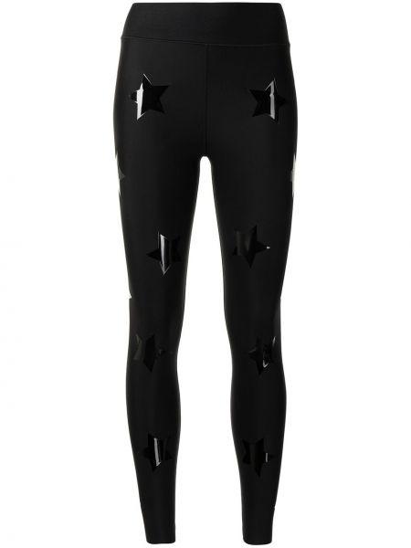 Czarne legginsy bawełniane z printem Ultracor