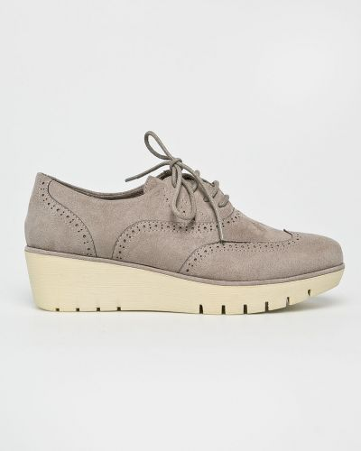 Серые туфли текстильные Corina