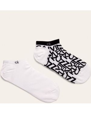 Białe skarpety wełniane Calvin Klein