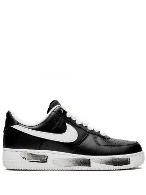 Кожаные кроссовки черные городские Nike