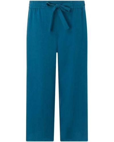 Spodnie z kokardą turkusowe Samoon