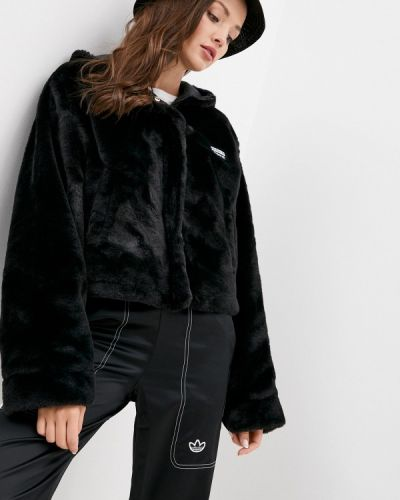 Черная шуба Adidas Originals