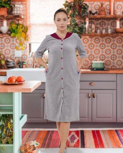 Велюровый домашний халат Mix-mode