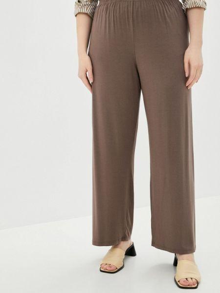 Свободные брюки расклешенные бежевый Zrimo