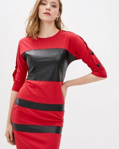 Прямое платье - красное Vergans