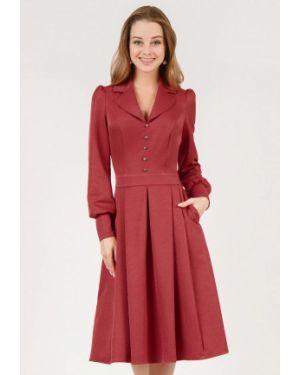 Повседневное платье красный осеннее Marichuell