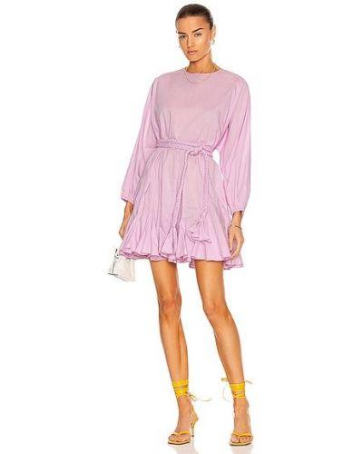 Fioletowa sukienka bawełniana Rhode
