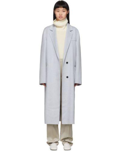 Кашемировое длинное пальто с воротником с карманами Joseph