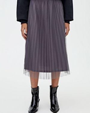 Плиссированная юбка Pull&bear