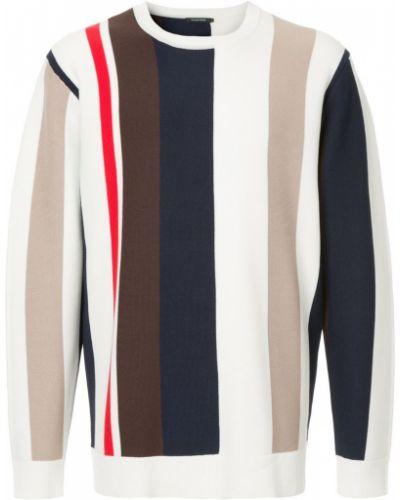 Белый свитер в полоску Guild Prime