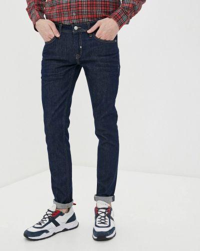 Синие зауженные джинсы-скинни Antony Morato