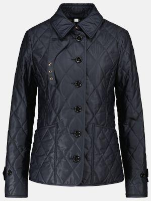Синяя стеганая куртка Burberry