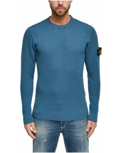 Sweter wełniany - niebieski Stone Island