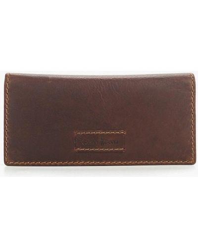 Кожаный кошелек - коричневый Gianni Conti