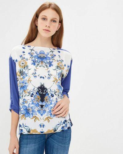 Блузка с коротким рукавом белая весенний Арт-Деко
