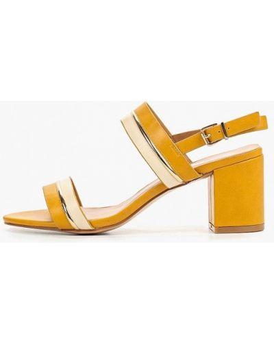 Босоножки желтый на каблуке Style Shoes