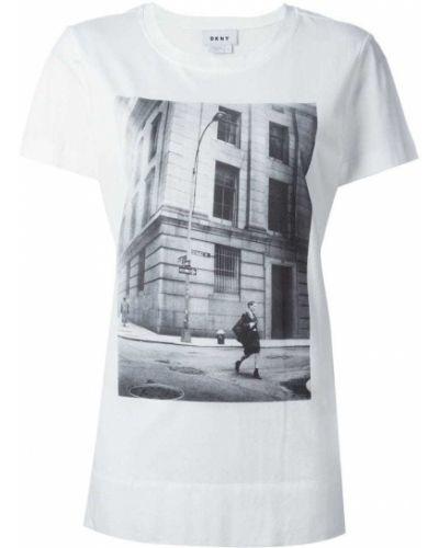 Белая футболка прямая Dkny