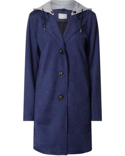 Niebieski płaszcz z bursztynem Amber & June