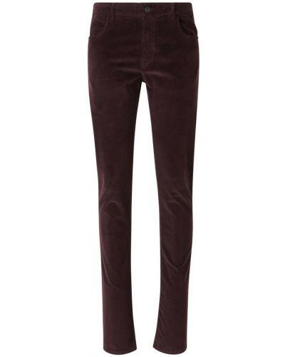 Czerwone spodnie sztruksowe Canali