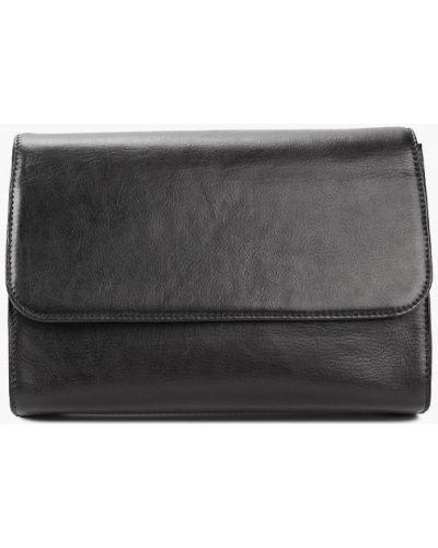 Кожаная сумка через плечо черная Kofr