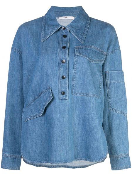 Klasyczna koszula z długim rękawem dżinsowa Tibi